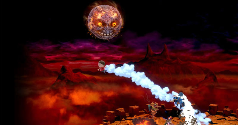 La Luna se estrella en Super Smash Bros. Ultimate