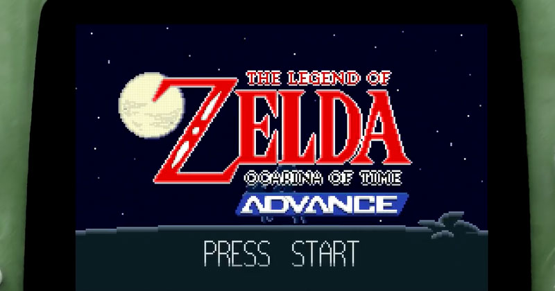 FanArt: Ocarina of Time para Game Boy Advance