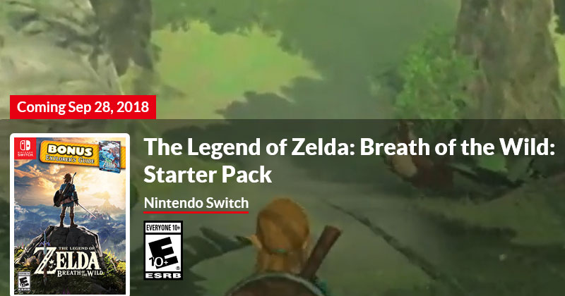 Starter Pack de Breath of the Wild en norteamérica