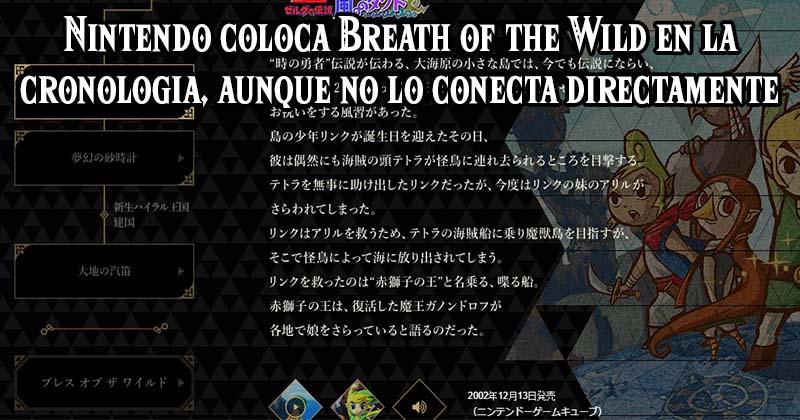 Nintendo ubica Breath of the Wild en la cronología, aunque no aclara su conexión