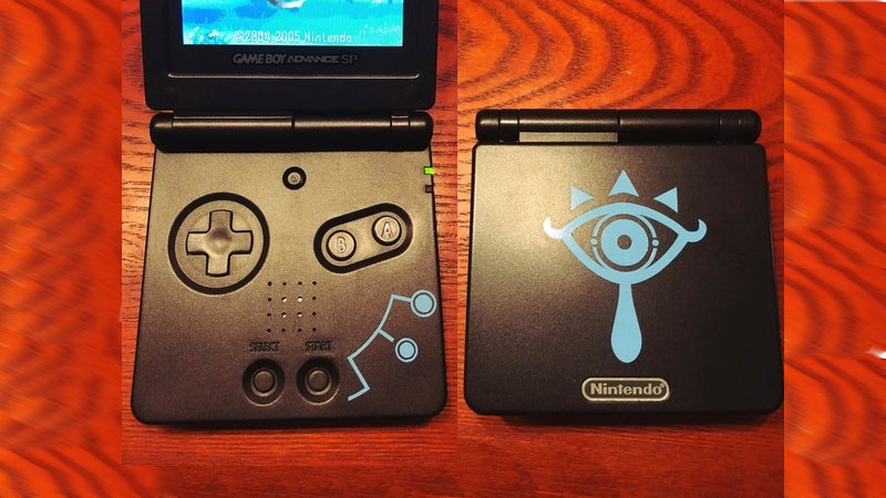 Diseño de Breath of the Wild para tu GameBoy Advance SP
