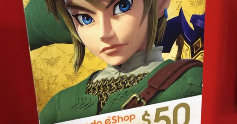 Nueva tarjeta de eShop con Link como protagonista