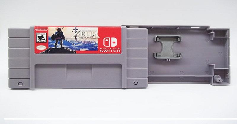 Cartuchos de NES y SNES para guardar juegos de Switch