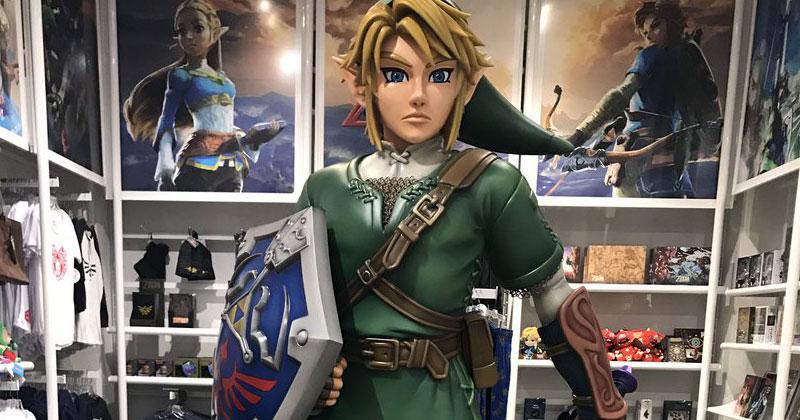 Estatua de Link en Nintendo NY