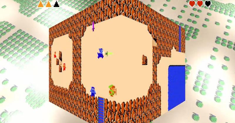 Una manera diferente y surrealista de ver The Legend of Zelda