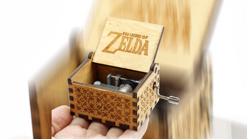 Caja de música de madera de The Legend of Zelda en Aliexpress