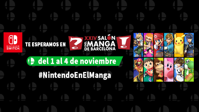 Nintendo y Super Smash Bros. Ultimate en el Salón del Manga 2018