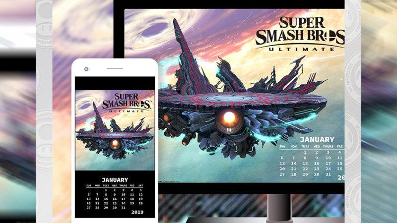 My Nintendo América añade un calendario y un fondo de pantalla de Smash Bros. Ultimate