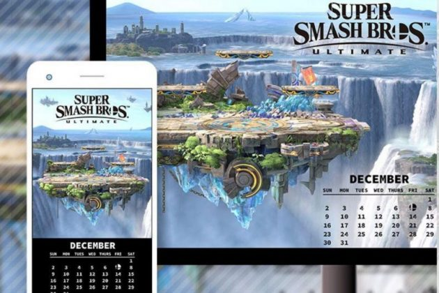 Calendario de Diciembre con temática de Super Smash Bros. Ultimate en My Nintendo