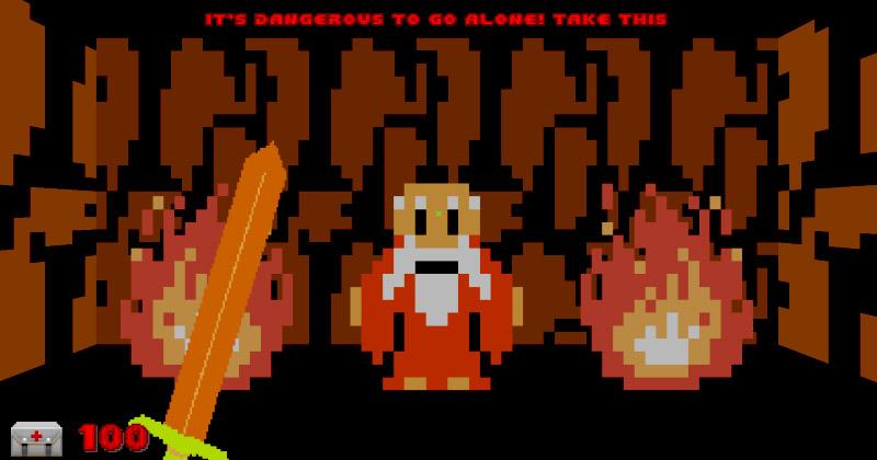 El Zelda original con el motor del Doom clásico