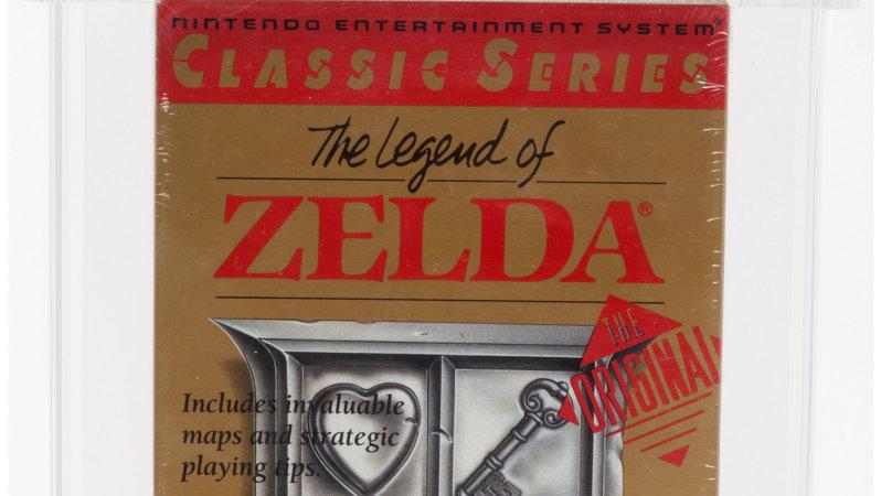 ¡Un cartucho de The Legend of Zelda para la NES se vende por más de 3,000$ en una subasta!