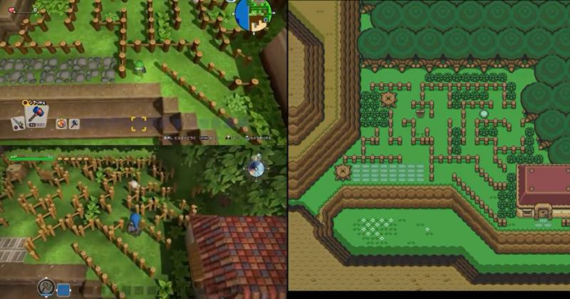 A Link to the Past recreado en Dragon Quest Builders 2