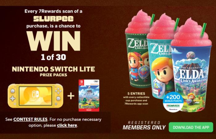Batidos de Link's Awakening y sorteo del juego en tiendas 7-Eleven Canadá
