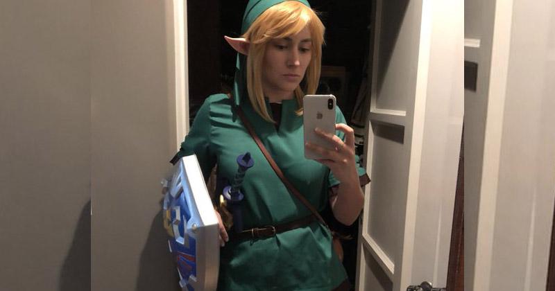 Zelda Williams se disfraza de Link