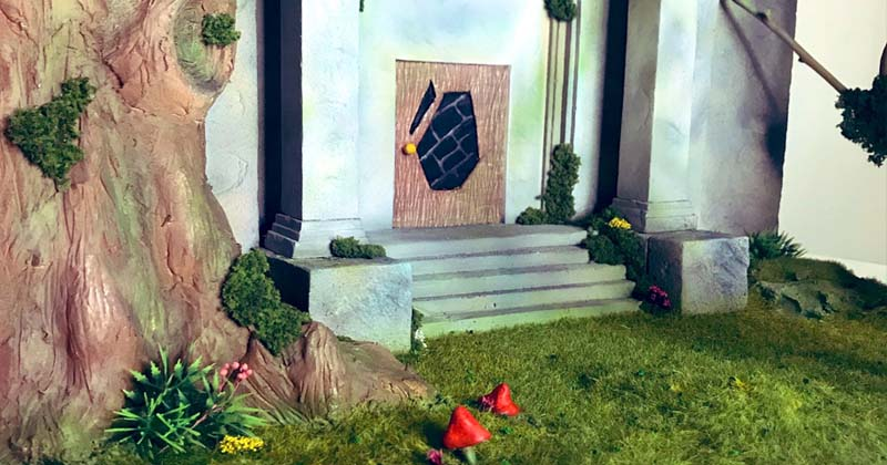Mianfero Dioramas recrea el Templo del Bosque de Ocarina of Time
