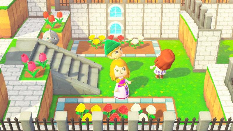 Fan recrea el Patio del Castillo y más zonas de Ocarina of Time en Animal Crossing