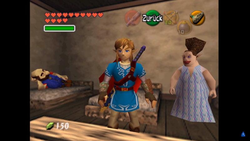 Recrean cómo seria Link de Twilight Princess y Breath of the Wild en Ocarina of Time