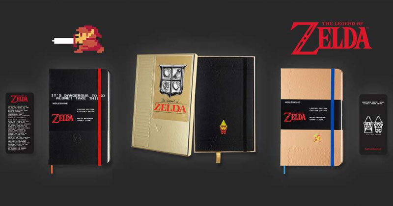 Libretas Moleskine de The Legend of Zelda