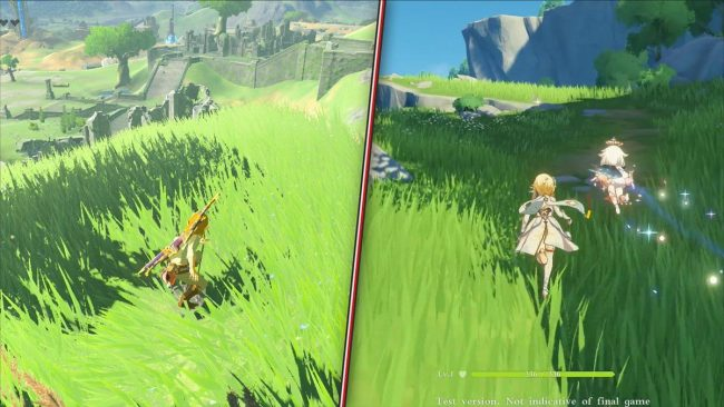 Comparativa Genshin Impact Breath of the Wild
