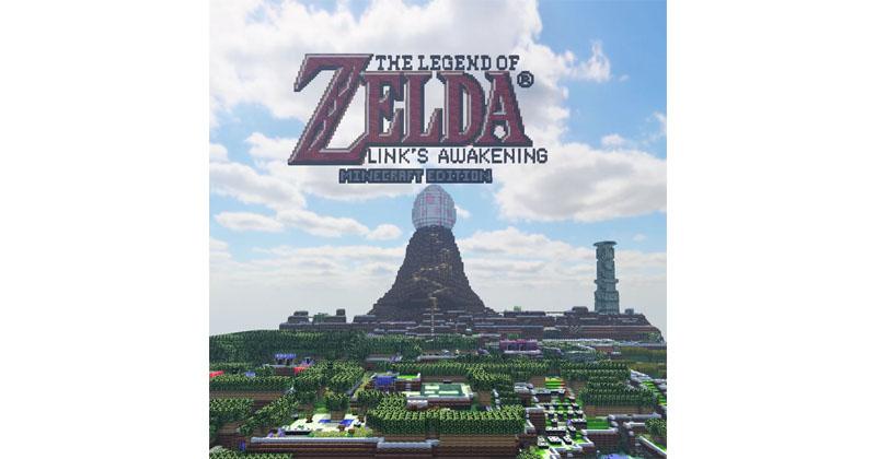 Un fan recrea Link's Awakening en Minecraft