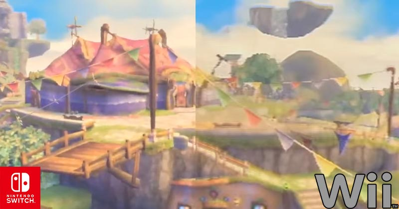 Este vídeo compara los gráficos de Skyward Sword en Wii y en Switch