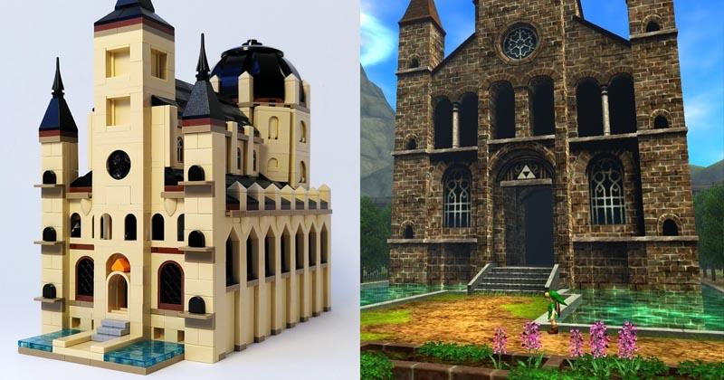 El Templo del Tiempo hecho de piezas de LEGO