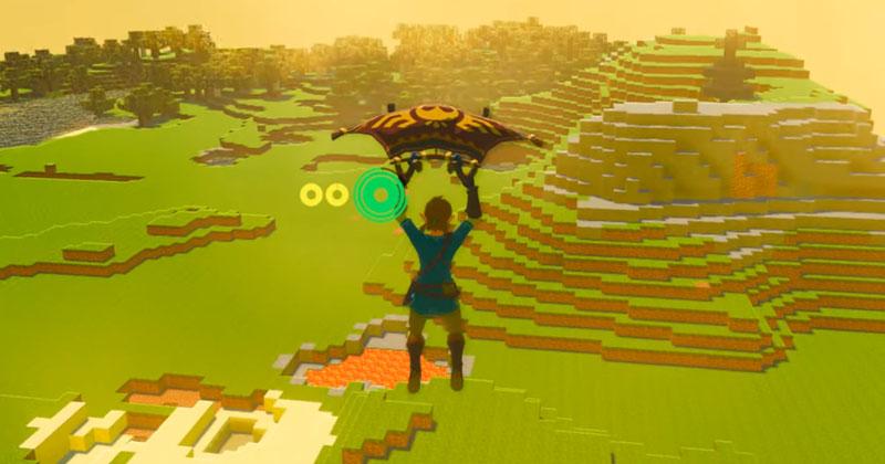Minecraft llega al mundo de Breath of the Wild a través de un mod