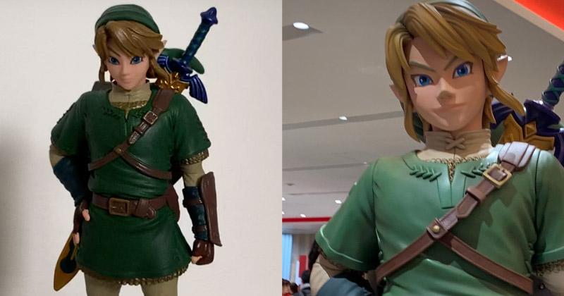Conoce al detalle la figura de Link basada en su estatua de la Nintendo Tokyo Store